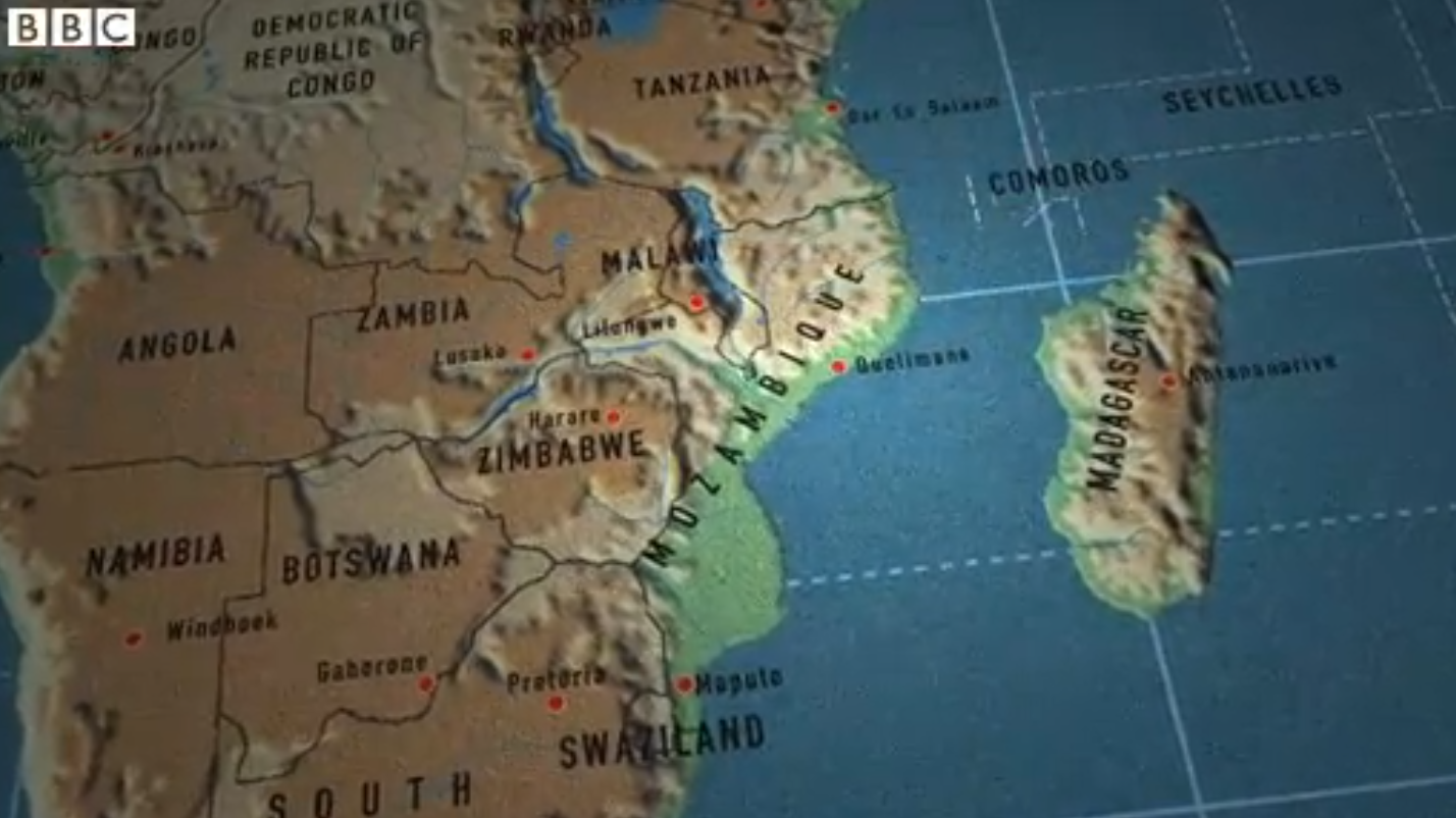 Quelimane no episódio da série One Square Mile da BBC World News